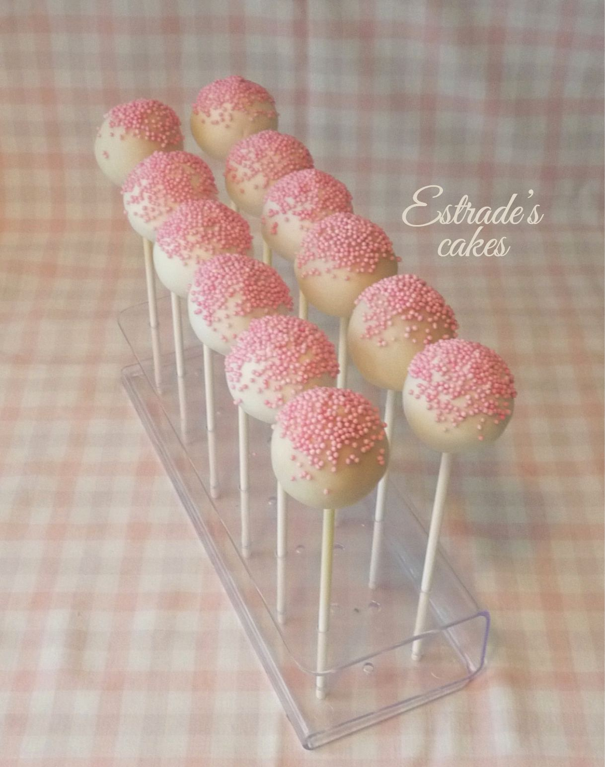 cake pops sencillos pero elegantes para primera comunión - 2