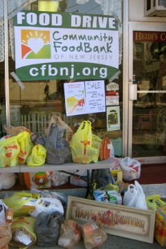 community foodbank of nj turkey food drive dunellen nj heidi's cottage gift store