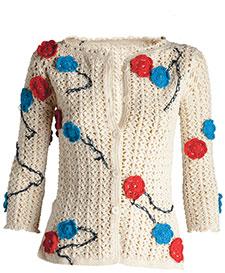 moda estilo casaco crochê channel corte costura receita
