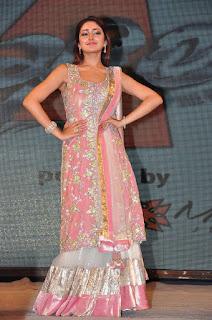 Sayesha Looks Super cute in Sleeveless Anarkali Shining Jari Work Anarkali Dress