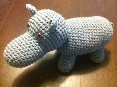 amigurumi hippopotamus