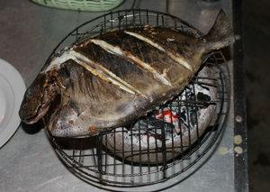"""Grilled """"Cá bò"""" fish"""