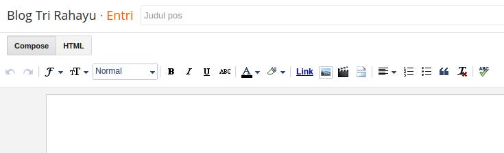 teks editor entri baru