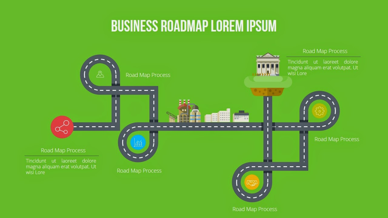 various business road maps for free infographic powerpoint, Modern powerpoint