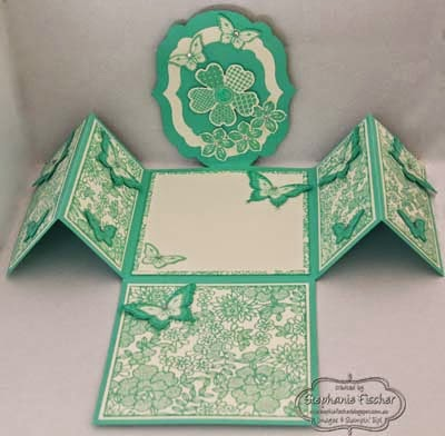 Stampin' Up! Label Triple Flap Fold, I love Lace
