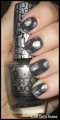 china glaze concrete catwalk with opi silver shatter
