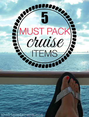 5 must pack cruise items :: OrganizingMadeFun.com