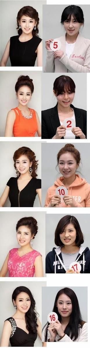 Chicas coreanas en concurso de belleza Miss Korea