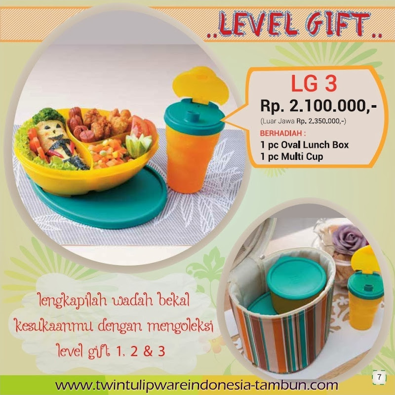 Level Gift Tulipware Tupperware Maret - April 2014