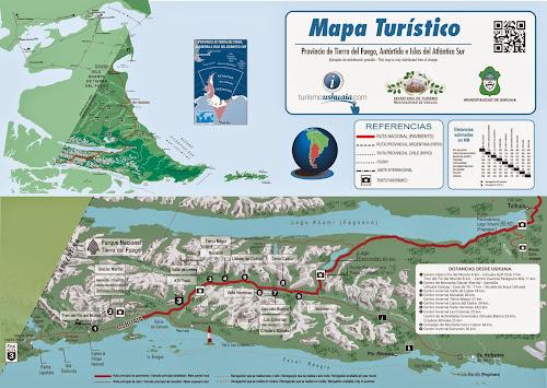 Mapa turístico de Ushuaia