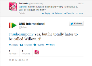 Word from BRB's twitter on Willow's name