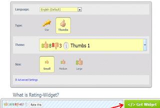 putting star rating widget