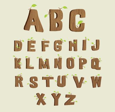 alfabetos de madera