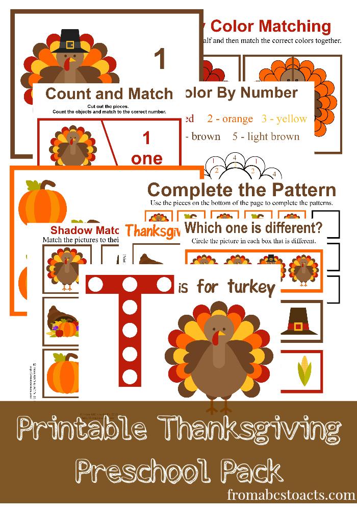 Free thanksgiving preschool printables montessori nature for Thanksgiving crafts for preschoolers free