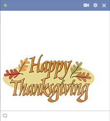 Happy Thanksgiving Facebook Sticker