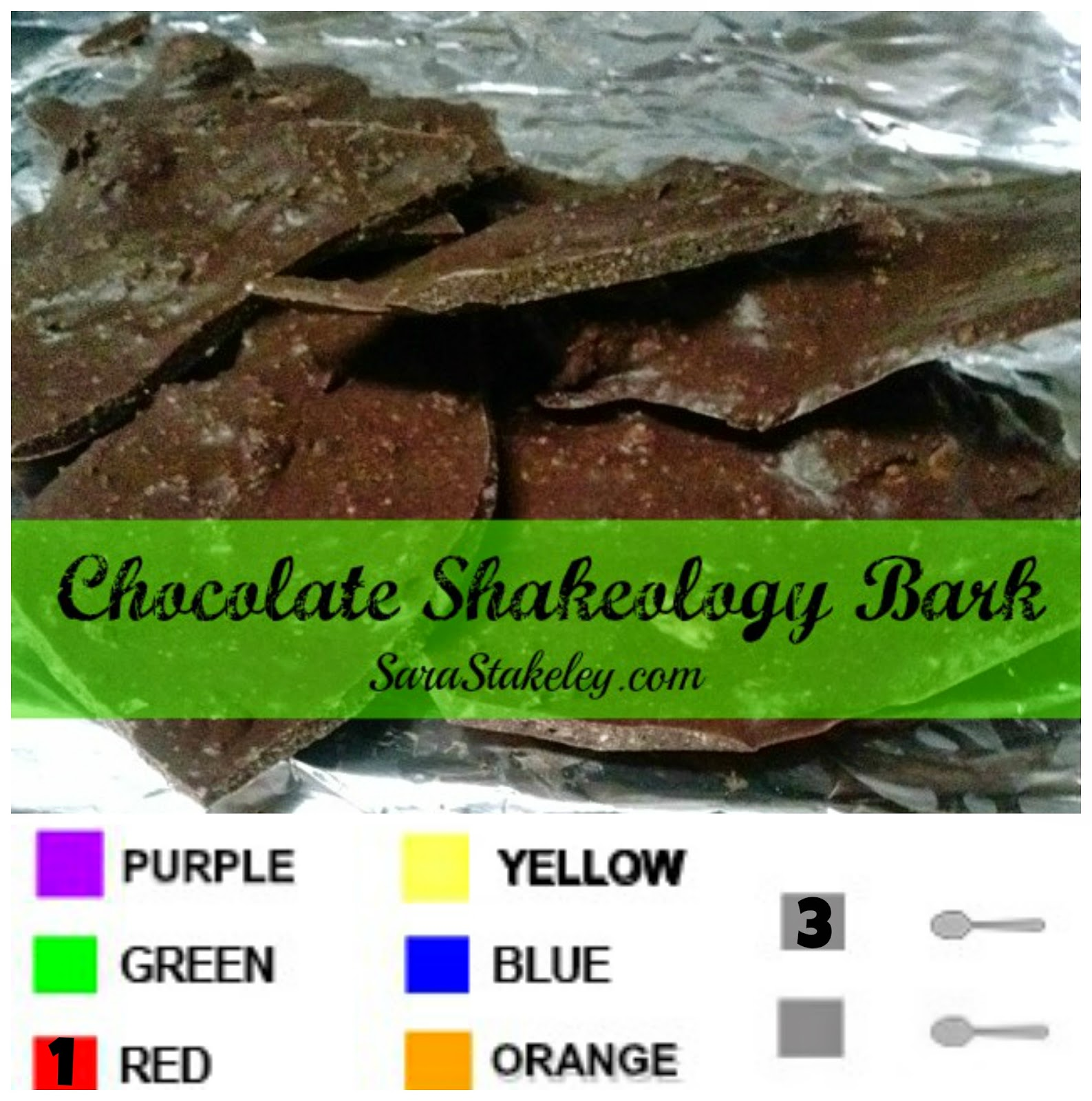 Chocolate Shakeology Bark, 21 Day Fix Desert, 21 Day fix coach, Sara Stakeley, Sarastakeley.com, Shakeology Desert