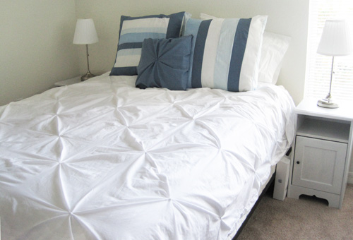 knotted duvet cover tutorial
