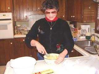 Laurel stirring Matzo