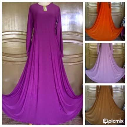 Gamis Jersey Umbrella Talita Dress