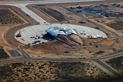 Futuristic Looking Spaceport America Near Completion in New Mexico