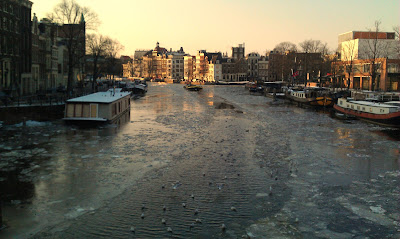 Amsterdam Amstel Blauwbrug winter February 7 2012