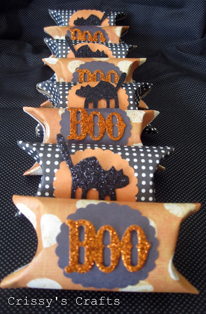 black, white and orange party favor boxes for halloween