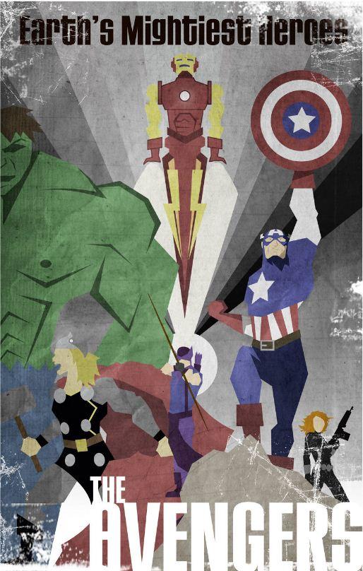 In camera fantastic fan made superhero posters - Poster super heros ...