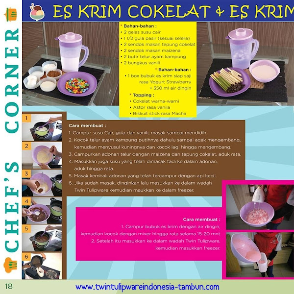 Chef's Corner : Es Krim Coklat & Es Krim Yogurt Strawberry