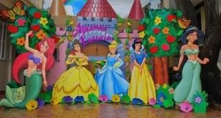 dekorasi styrofoam princess