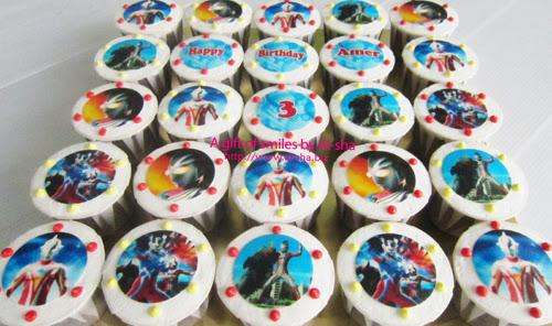 Birthday Cupcake Edible Image Ultraman Ai-sha Puchong Jaya