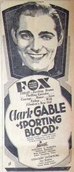 Sporting Blood newspaper ad