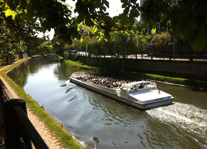 Страсбург. Кораблик на реке Иль
