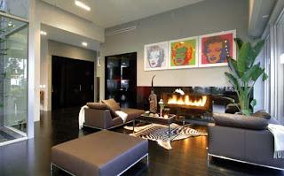 Luxury Living Room Fireplace Design