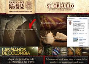 Ganó textiles de algodón de Charalá en  el concurso Orgullo perdido