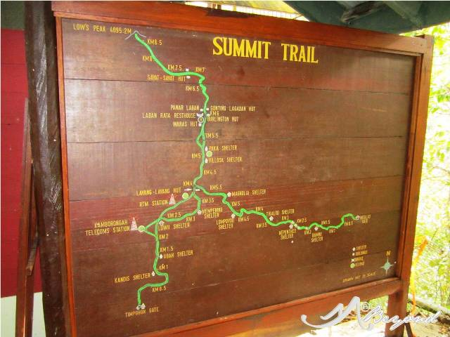 Mt Kinabalu trail map, Mt. Kinabalu map, Kota Kinabalu trail, climbing mt. kinabalu, climbing kota kinabalu