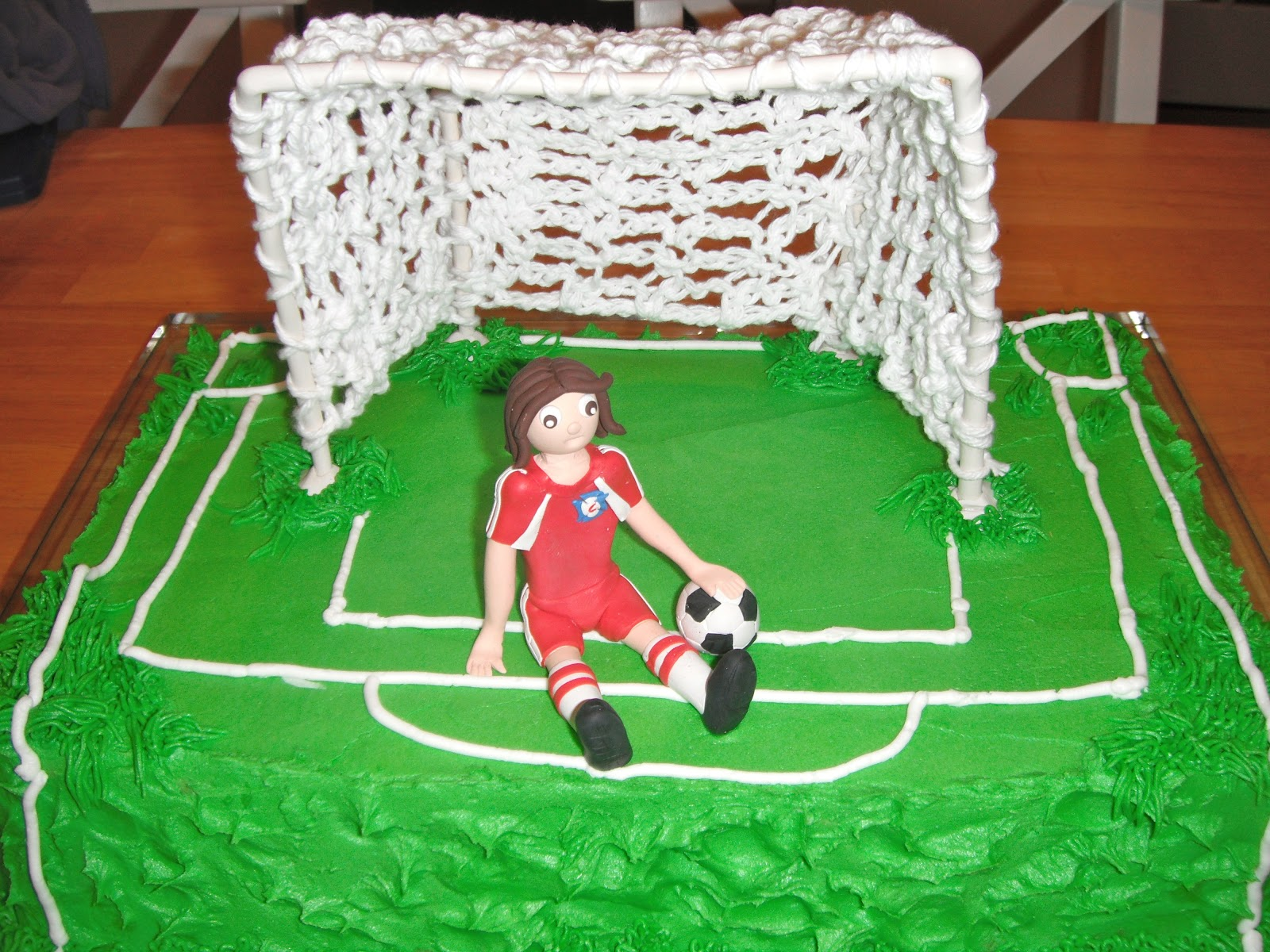How to Make a Soccer Goal Post Cake PARTY
