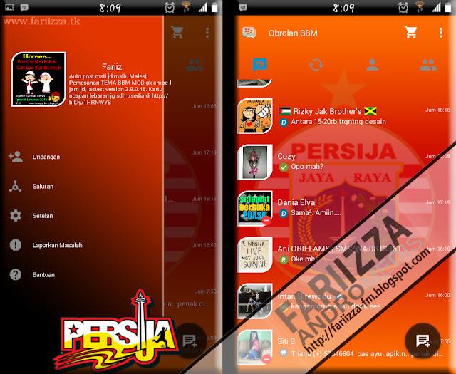 BBM Mod Tema Club Sepak Bola Persija Jakarta
