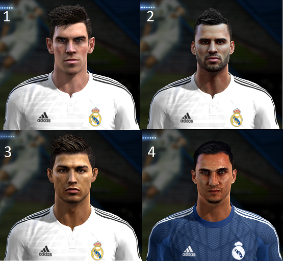 Real Madrid Mini Facepack 2014/2015