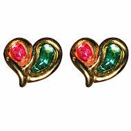 Emanual Ungaro Poured Glass Earrings