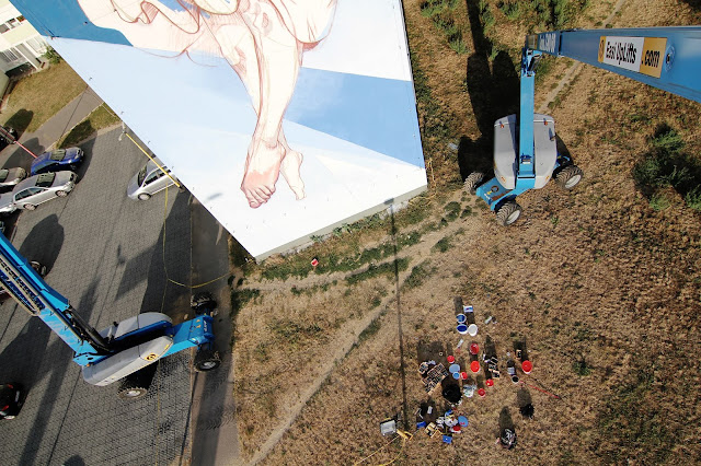 street art by bezt and pener in slovakia - progress shot  2