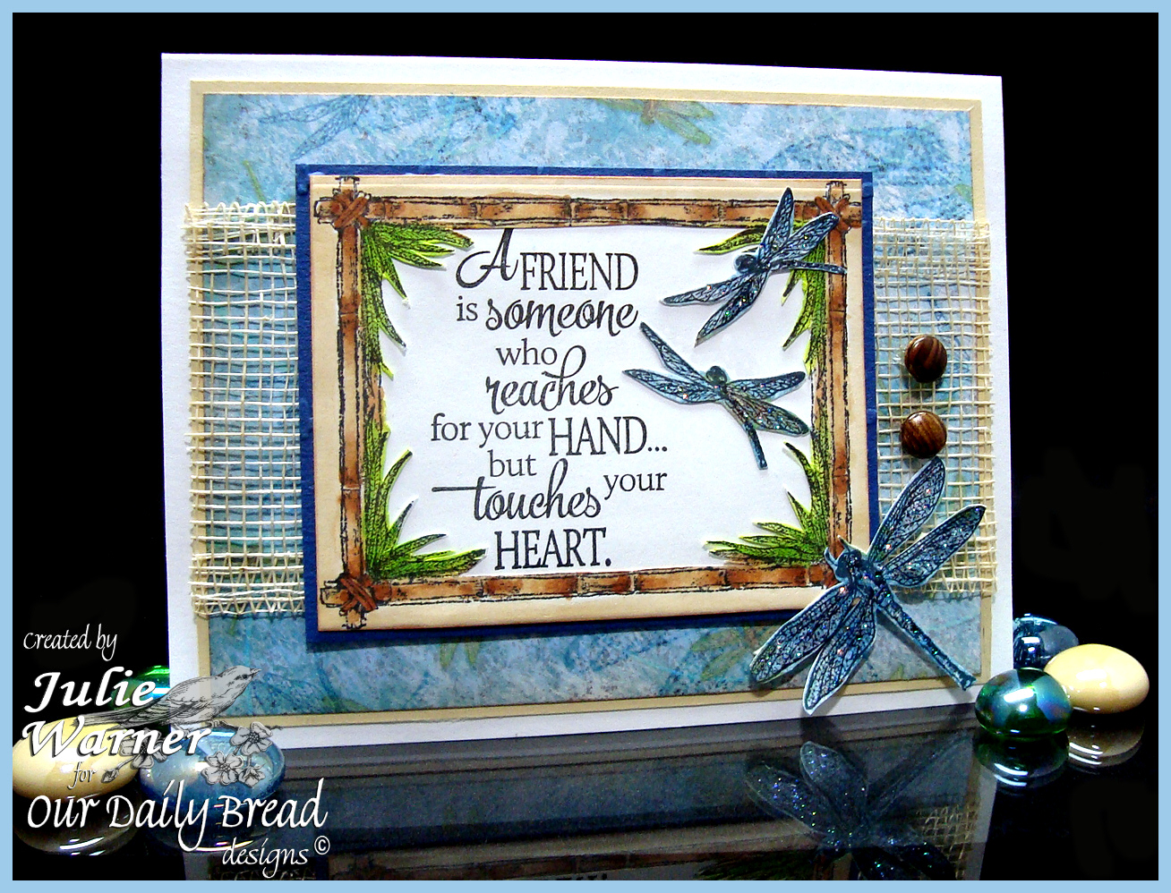 Stamps - Our Daily Bread Designs Quote Collection 4, Faithful Friend, With Heartfelt Sympathy, Bamboo Frame, Blooming Garden Paper Collection