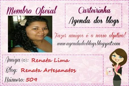 """Carteirinha """"Agenda dos Blogs"""""""