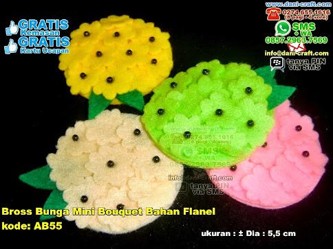 Bross Bunga Mini Bouquet Bahan Flanel Flanel