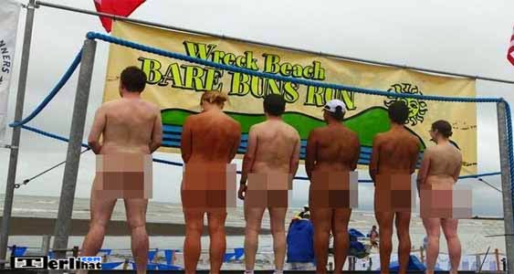The Wreck Beach Bare Buns Run Kejuaraan Balap Lari Telanjang (Canada)