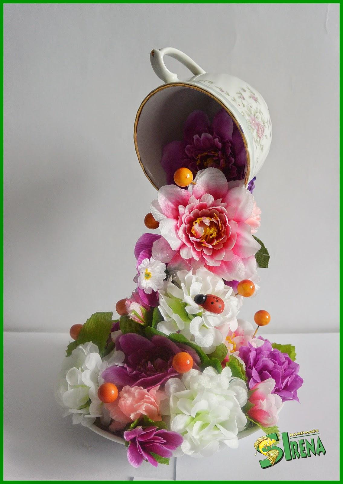 Поделки своими руками кружка с цветами