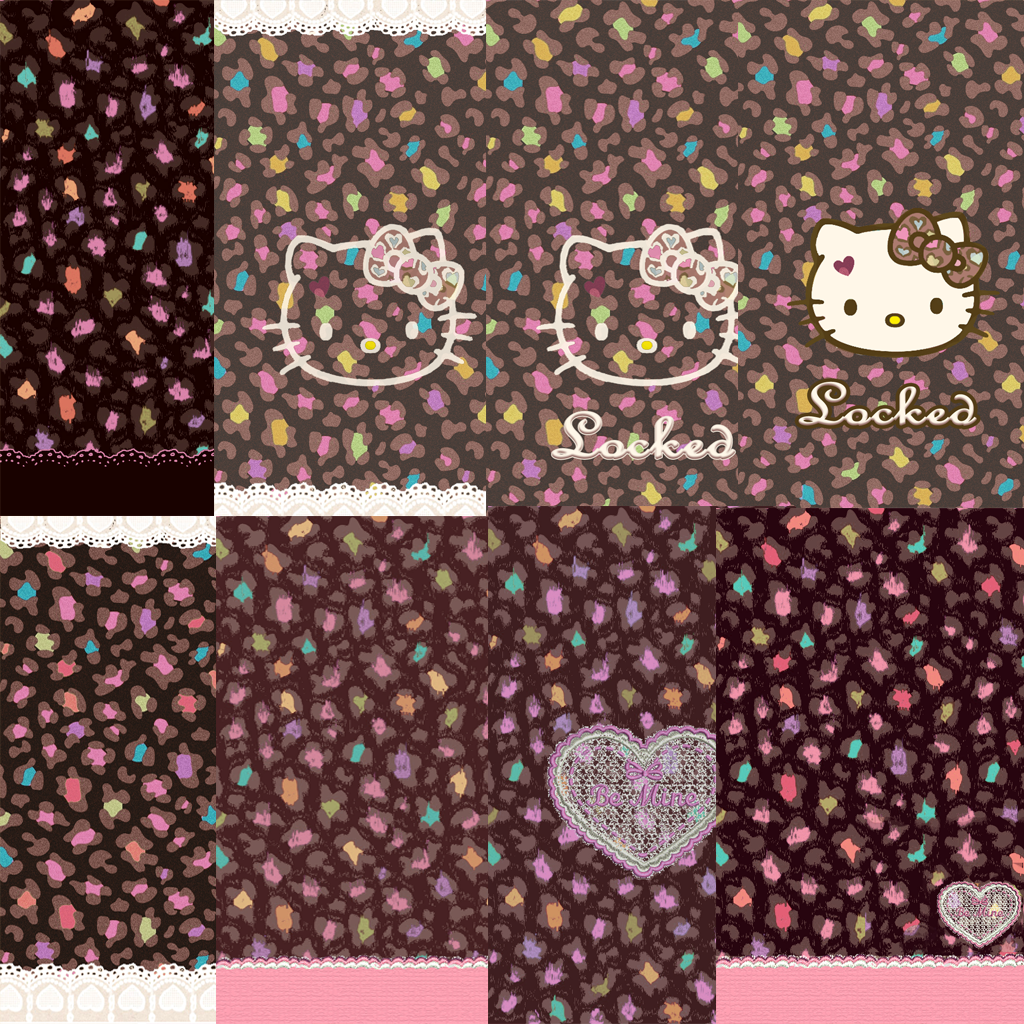 LOve Pink~: Colorful pastel black Hello Kitty wallpaper~