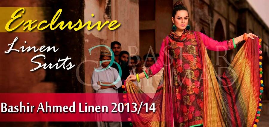 BashirAhmedLinen2013 14 wwwfashionhuntworldblogspotcom 0001 - Bashir Ahmed Linen Dresses 2013 / 2014