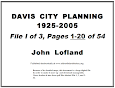 City Planning Begins, 1925
