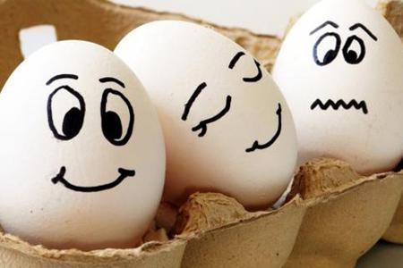 Как да си направим яйца с личица