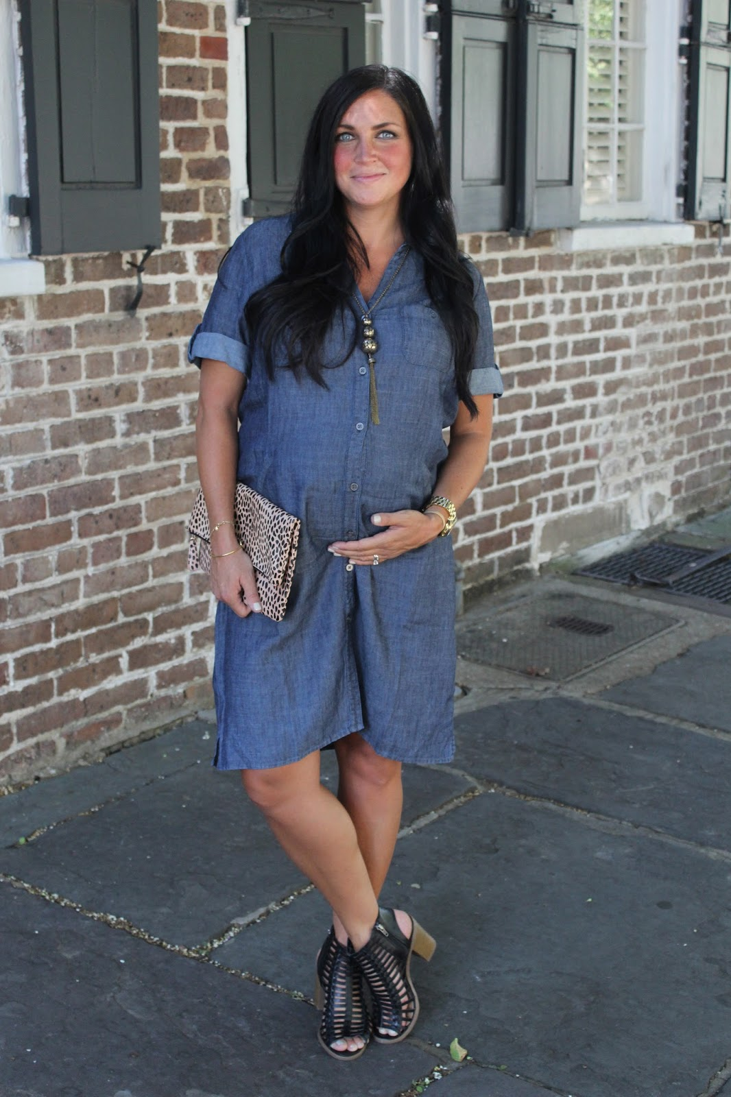 Denim Dress, Maternity Style